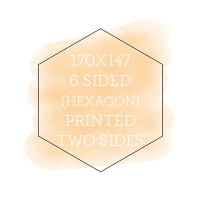 170x147 Printed Flat Hexagon Double Sided