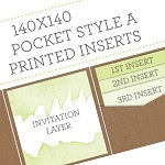 PRINTED INSERTS for 140x140 Pocket Style A