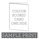 Colour Print Scored Card Sample