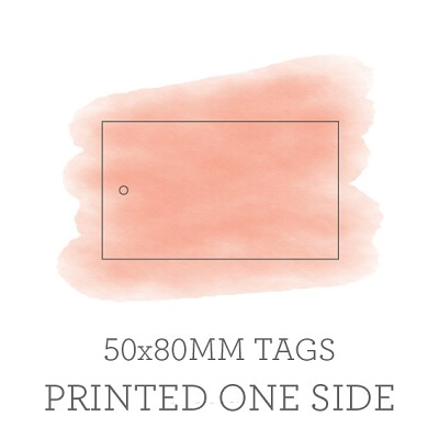 80x50mm Single Sided Tags with 3mm Hole