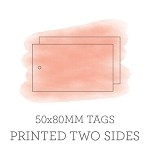 80x50mm Double Sided Tags with 3mm Hole